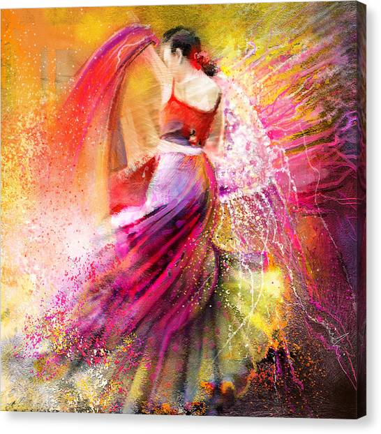 Spain - Flamencoscape 12 Canvas Print