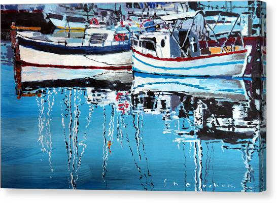 Marinas Canvas Print - Spain Series 04 Cadaques Portlligat by Yuriy Shevchuk