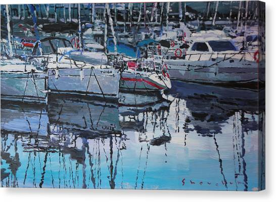 Marinas Canvas Print - Spain Series 05 Port Del Balis by Yuriy Shevchuk