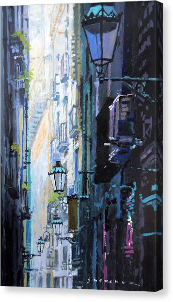 Papers Canvas Print - Spain Series 06 Barcelona by Yuriy Shevchuk