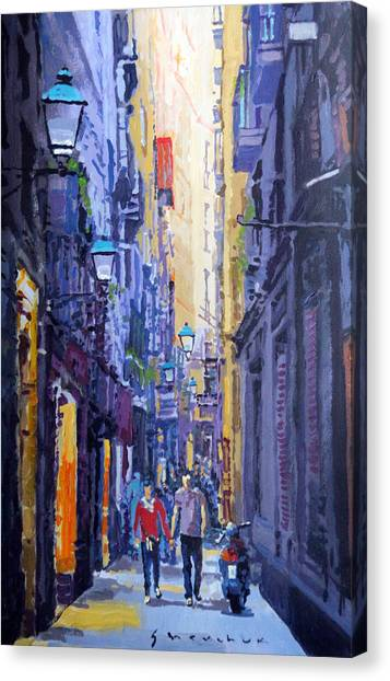 Paper Canvas Print - Spain Series 10 Barcelona by Yuriy Shevchuk