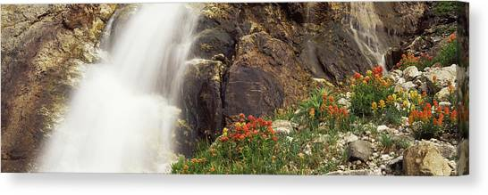 Wy Canvas Print - Spalding Falls Grand Teton National by Panoramic Images