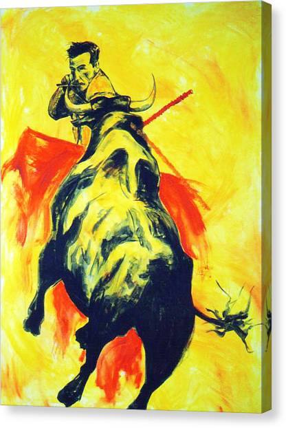 Spanish Bullfight Canvas Print