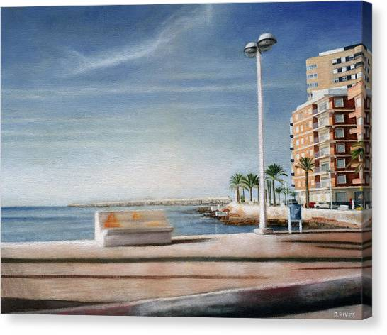 Spanish Coast Canvas Print