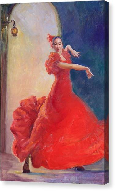 Spanish Flame Canvas Print by Gwen Carroll
