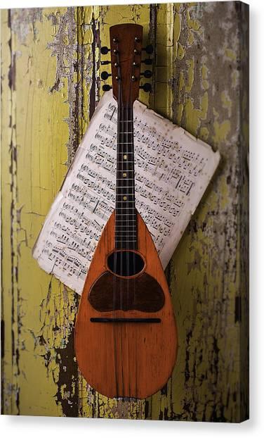 Mandolins Canvas Print - Spanish Mandolin by Garry Gay