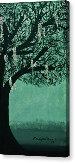 Spanish Moss Side Two Canvas Print By Mary Grace Bernard