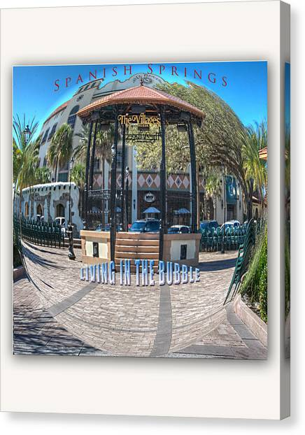 Spanish Springs Living In The Bubble Canvas Print by Wynn Davis-Shanks
