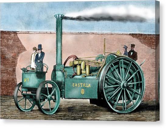 Steam Tractor Canvas Print - Spanish Traction Engine 'castilla' by Prisma Archivo