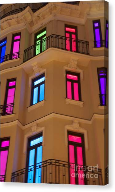 Spanish Windows Canvas Print