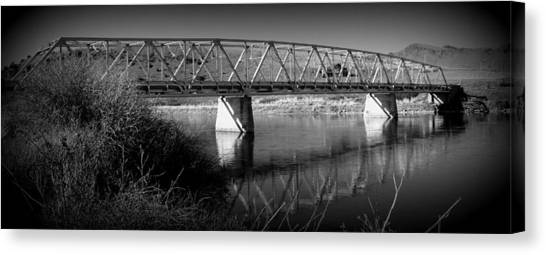 Spanning The Missouri  Canvas Print by Roxann Tempel