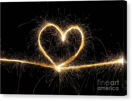 Hearts Canvas Print - Spark Of Love by Tim Gainey