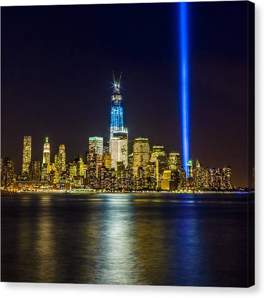 Sparkling Freedom Tower Canvas Print by Chris Halford