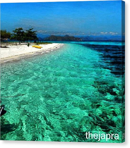 Scuba Diving Canvas Print - #sparkling #water #island #beach by Fajar Triwahyudi