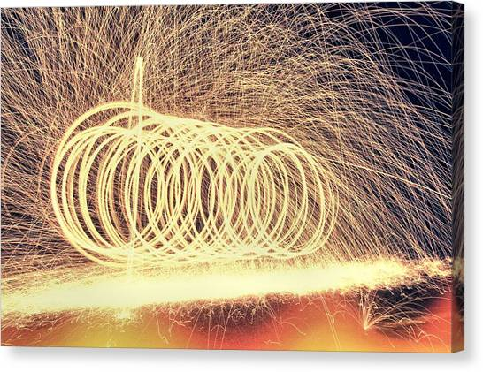 Coldplay Canvas Print - Sparks by Dan Sproul