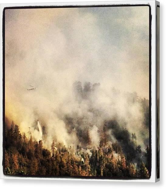 Firefighters Canvas Print - Sparks Fire #sparksfire #wrightwood by HK Moore