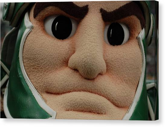 Sparty Face  Canvas Print