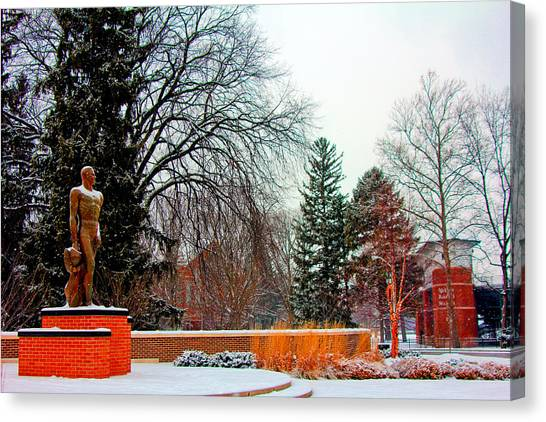 Sparty In Winter  Canvas Print
