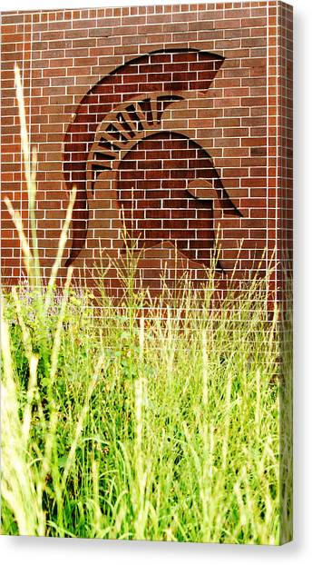 Michigan State University Canvas Print - Sparty On The Wall by John McGraw
