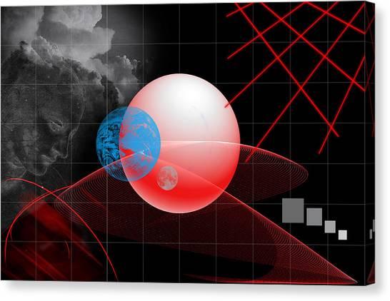 Spatial Geometry. Canvas Print
