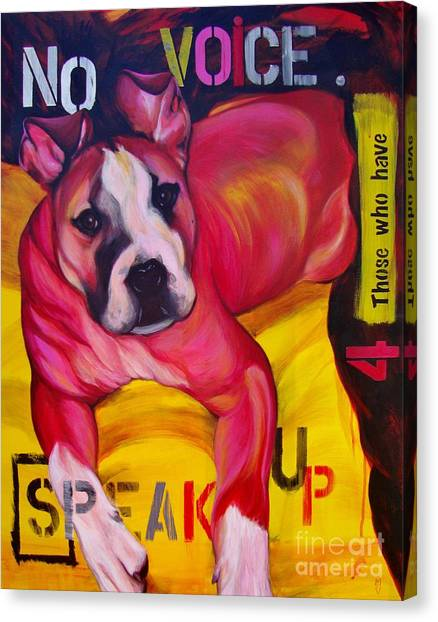 Speak Up Canvas Print