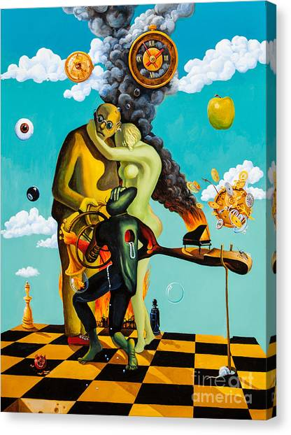 Speaking About Dali Canvas Print
