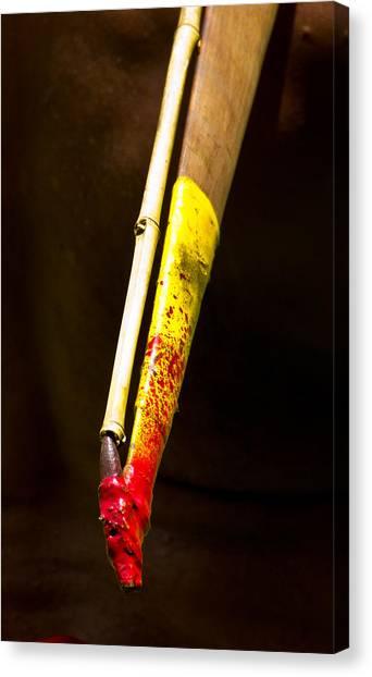 Spear Thrower Woomera Canvas Print by Debbie Cundy