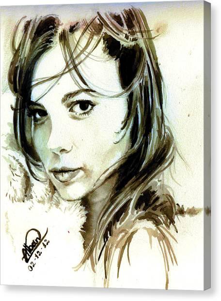 Special Friend Portrait Canvas Print