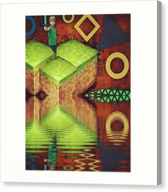 Video Games Canvas Print - Special #minecraft Edit For My Ak by Beth Paulsen