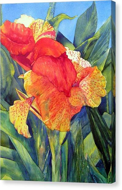 Speckled Canna Canvas Print