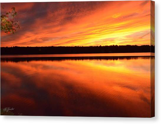 Spectacular Orange Mirror Canvas Print