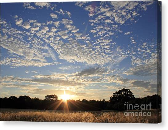 Spectacular Sunset England Canvas Print