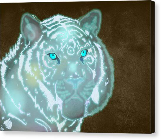 World Of Warcraft Canvas Print - Spectral Tiger by Nichole Geary