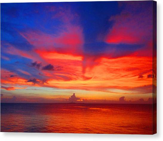 Sunset Horizon Canvas Print - Spectrum by Capt  Pat  Moran
