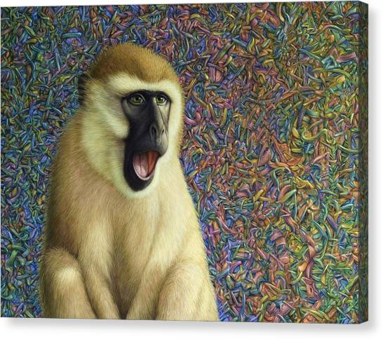 Monkeys Canvas Print - Speechless by James W Johnson