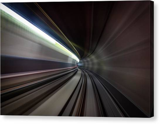 Tunnels Canvas Print - Speed Sensation by Sus Bogaerts