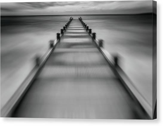 Pontoon Canvas Print - Speed Start For ? by Jean-louis Viretti