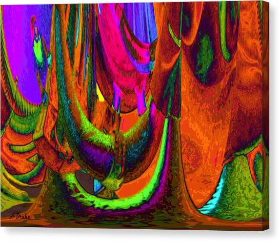 Spelunking On Venus Canvas Print