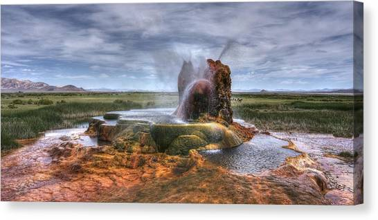 Spewing Minerals At Fly Geyser Canvas Print
