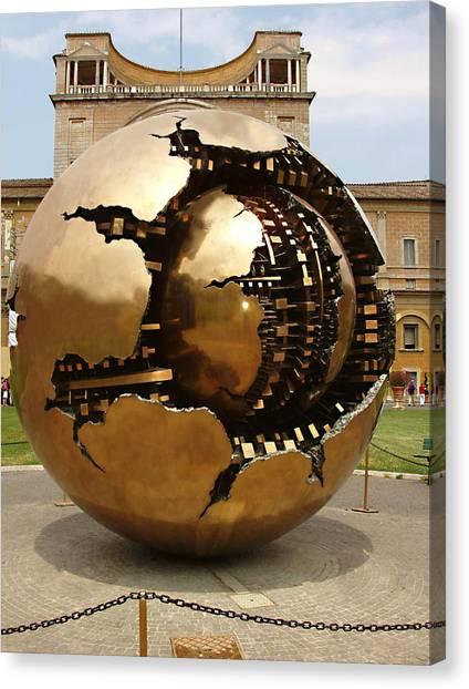 The Vatican Museum Canvas Print - Sphere by Ellen Henneke
