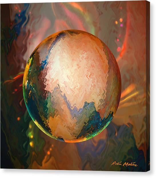 Lunar Canvas Print - Sphering Lunar Vibrations by Robin Moline