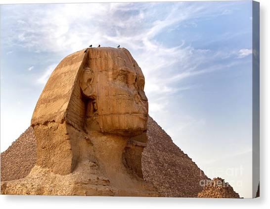 Sphinxes Canvas Print - Sphinx Egypt by Jane Rix