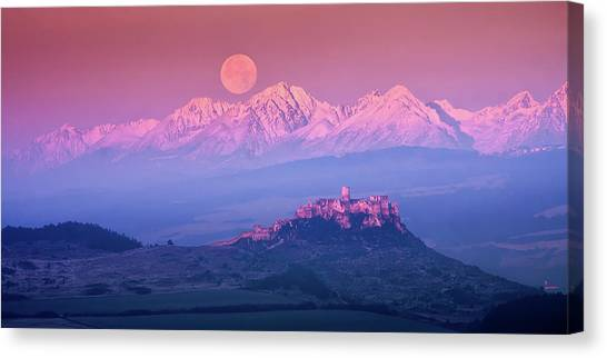 Mountain Ranges Canvas Print - Spia? Fairy Tale by Marian Kmet