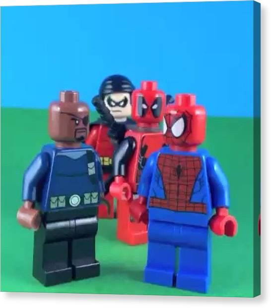 Saxophones Canvas Print - Spider-man Gets Accepted Into The by Lego Legion
