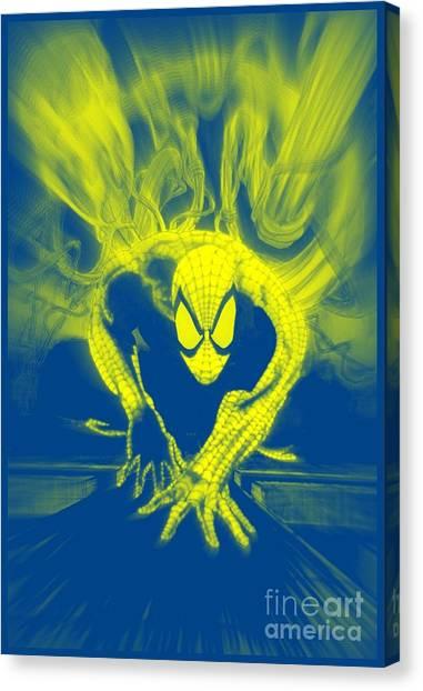 Spider-man Y B Blast Canvas Print