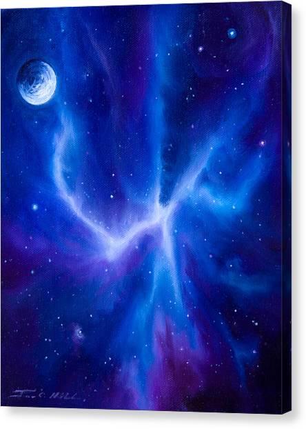 Stellar Canvas Print - Spider Nebula by James Christopher Hill
