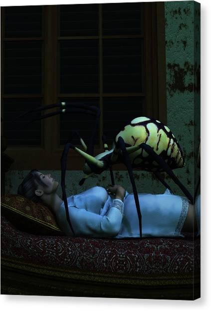 Sleeping Giant Canvas Print - Spider Nightmare by Daniel Eskridge
