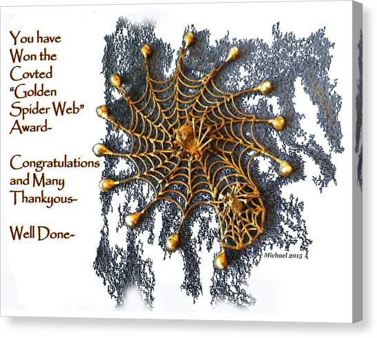 Spider Web Congratulation Thank You Well Done Canvas Print