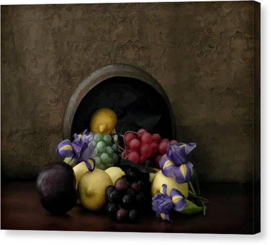 Spilled Fruit Canvas Print