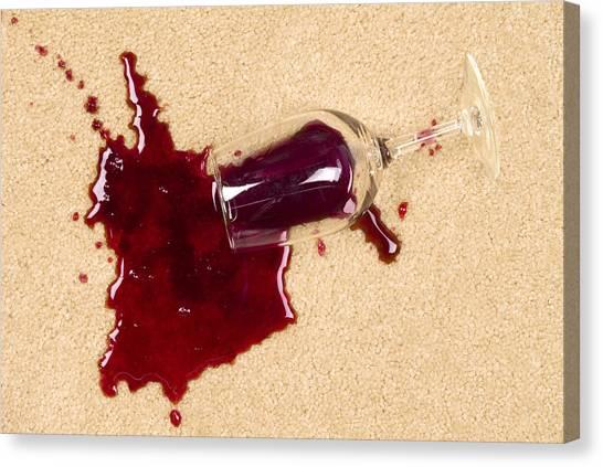 Spilled Wine On Carpet Canvas Print